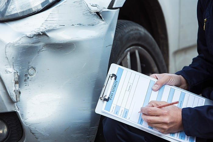 Assessment and estimate for auto collision repairs